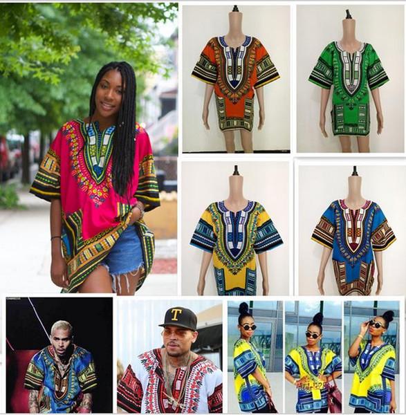 (schnelles verschiffen) 2016 neue mode-design afrikanischen traditionellen druck 100% baumwolle Dashiki T-shirt für unisex DF598 (MADE IN THAILAND)