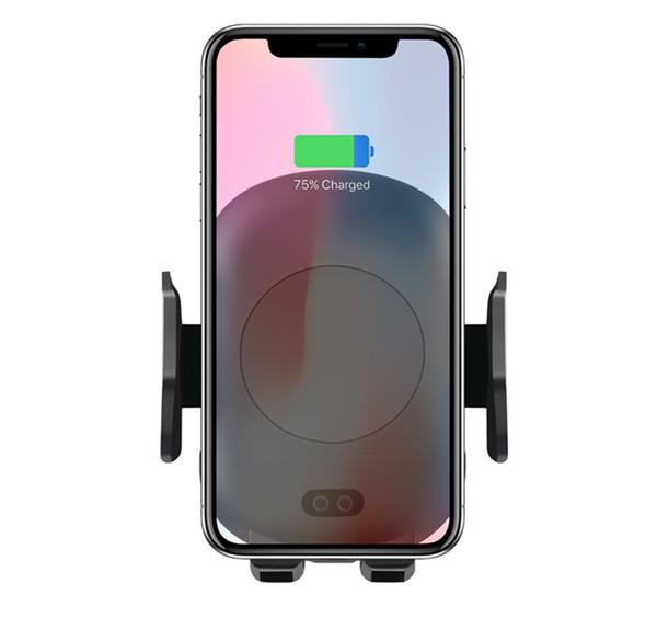 C10 / C9 QI Fast Wireless Chargeur de voiture 10 W Automatique Infrare Induction Air Vent Support de téléphone de voiture pour iPhone 8 Plus X Samsung STY099