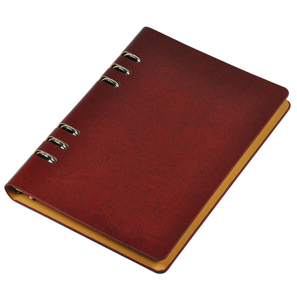 Wholesale A5 Leather Journal Diary Spiral Notebook Loose-leaf Notepad Work-book DEWSSDD
