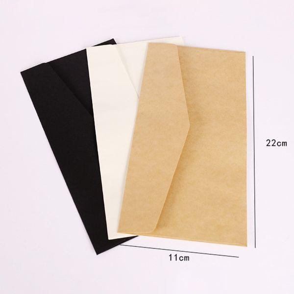 22*11cm Brief Design Kraft Paper Envelope Postcard Invitation Letter Stationery Paper Bag Air Mail for Greeting
