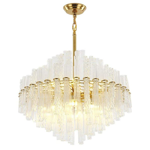 big sale 199cf 90a5c LED Latest Styles Twisted Clear Glass Rod And Gold Light Stand Ceiling  Lights Fixture Lamps Chandeliers Pendant Lights Lighting Light Designer ...