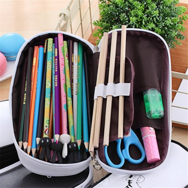 1Pc Cute Pencil Case Large Capacity Pen Pencil Case Pen Box School Stationery Cosmetic Bag Student Gift For Christamas Gift