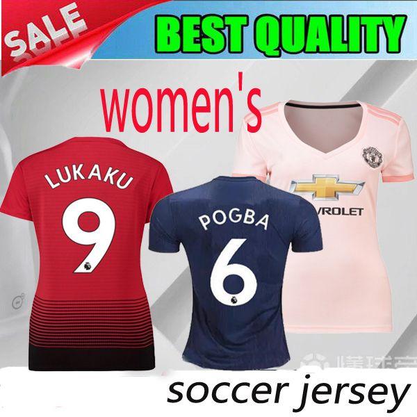 a3c8b289 Manchester United women Jersey 2018 2019 Soccer 6 POGBA 9 LUKAKU 11 MARTIAL  14 LINGARD 10