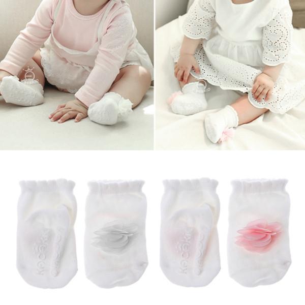 Princess Girls Baby Socks Beautiful Flowers Design Cotton Infant Socks 2Colors