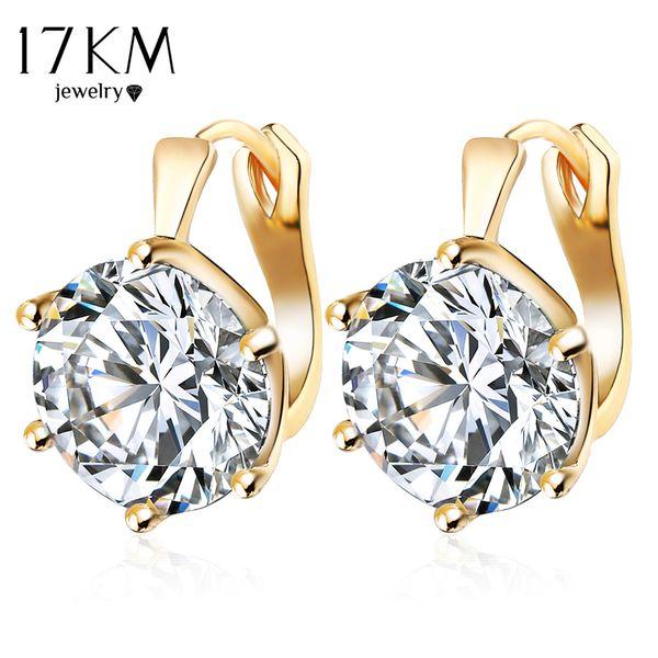 17KM New Fashion Statement bijoux 7 Colour Vintage Punk Argento Colore Fiore di cristallo Orecchini per le donne Wedding orecchino amore