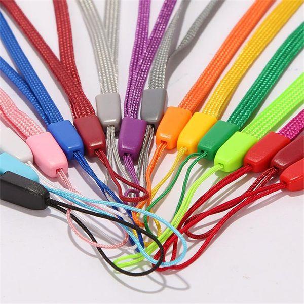 Lanyard Strap Short Colorato a mano Polso per Mp3 Mp4 USB Flash Drive Key Designer Portachiavi ID Badge Holder Cellulare Cordini 18 cm