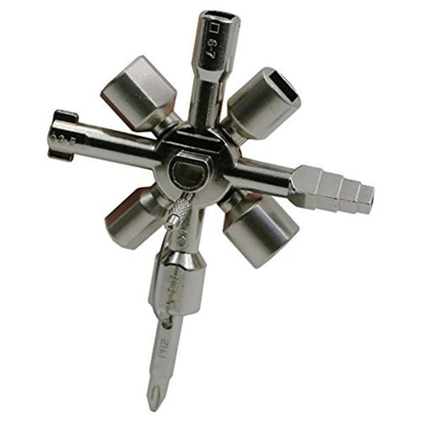 Ferramentas manuais Cross Triangle Key Wrench Porta Do Escritório Caminhadas Equipamentos de Camping Gabinete de Controle Elétrico de Emergência Multi Função Chave 15bc bb