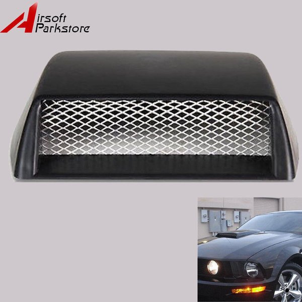 Carro preto Universal Fluxo De Ar Decorativa Admissão Scoop Capô Ventilação Capô Capa 3D