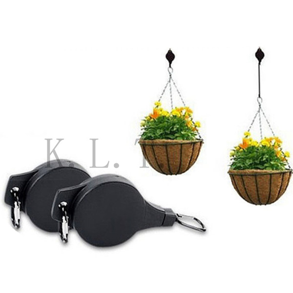 Black High Quality Super Length Easy Reach Hanger Garden Hook Plant Pulley Garden Flowerpot Hooks