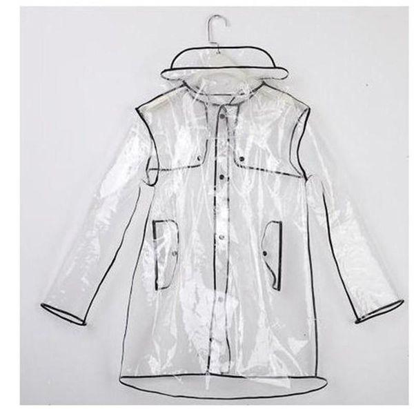 Transparent Raincoats For Men Women Rain Jacket Eco Friendly EVA Poncho For Outdoor Hiking Travel Camping Equipment L M Size 25 5lr2 ff