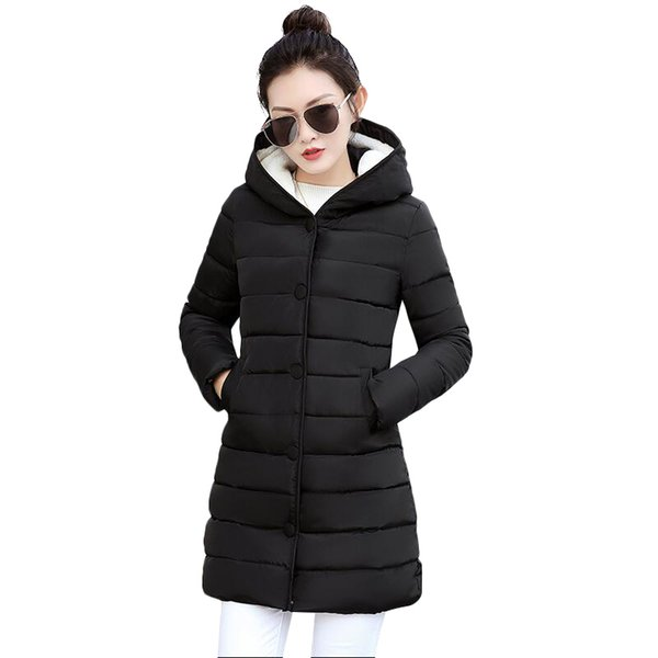 Winter Coat Women 2018 New Long Parka Casual Outwear Military Hooded Thickening Cotton Coat Winter Jacket For Coat Women Clothes S18101102