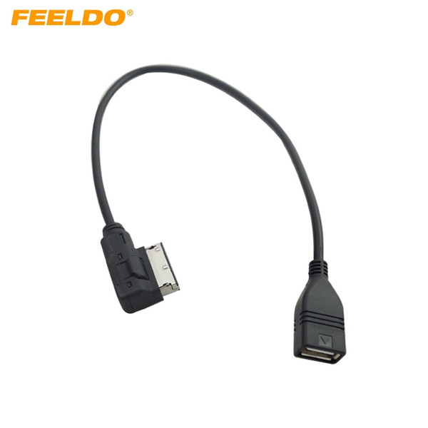 FEELDO Car Audio-Musikschnittstelle AMI / MDI / MMI auf USB-Adapterkabel für Audi A3 / A4 / A5 / A6 / VW TT / Jetta / GTI / GLI / Passat / CC / Touareg / EOS # 1557