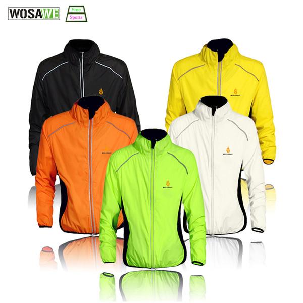 WOSAWE Cycling Windbreaker Jacket Cycling Motocross Riding Outwear Lightweight Waterproof Coat MTB Bike Jersey Reflective Coat