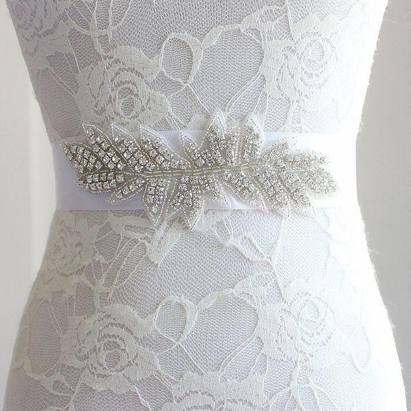 Bordeaux strass nuovo per abito da sposa Cintura SPOSA
