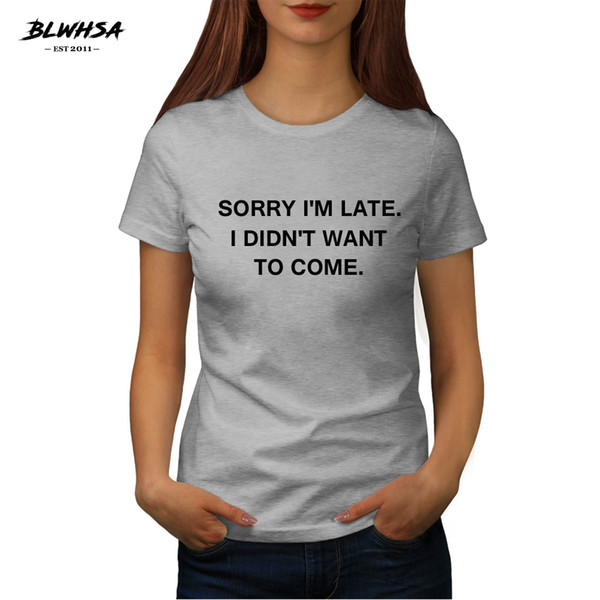 Maglietta da donna Maglietta Blshsa Personality Slogan Maglietta Donna Maglietta Divertente Maglietta da donna Top Maglietta da donna