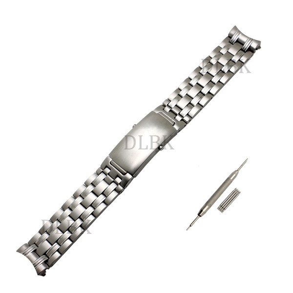 Watch Accessories Men Women 20mm 22mm Sport Watch Band Pure Solid Stainless Steel Butterfly Buckle Strap Bracelet for Omega Watch+tool