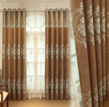 High-end European imitation Yangrongxuenier draperies fabric living room balcony curtain wholesale can be ordered manufactured