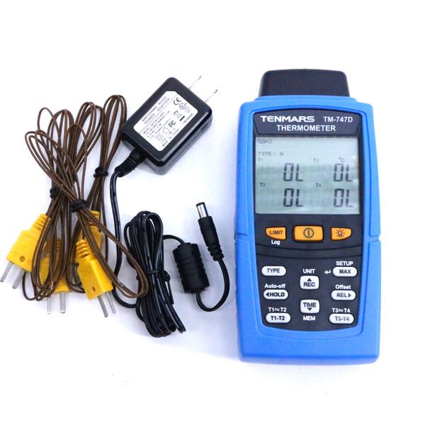 Tm-747d k / j / t / e / r / s / n dijital termometre aydınlatmalı ekran çift ekran doğruluğu: 0.05%