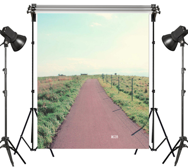 wholesale Polyester & Vinyl Backdrops Background For Photography Studio Backdrop Photo Props Country Dirt Road lawn Decoration Custom