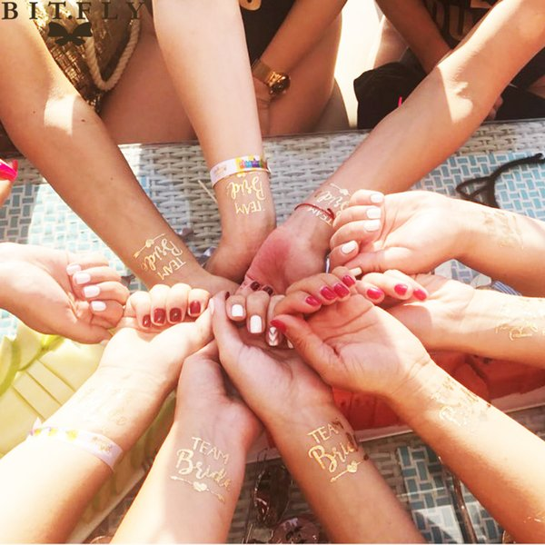 bride to be 1pcs Team Supplies Bridesmaid team temporary tattoo Bridal To Be Bridal Party Supplies Wedding Decoration
