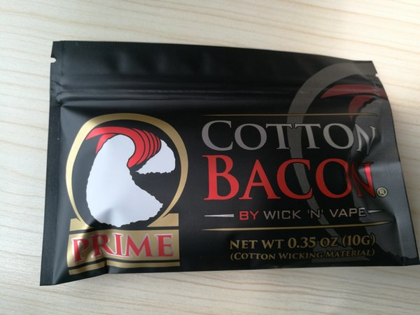 Made in China High Copy New Prime Gold Version COTTON BACON 2.0 Clone Pure Organic Cotton Wick n Vape Fiber VS VCC Candy DHL