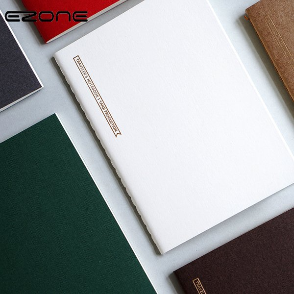 EZONE Simple Notebook Blank/Grid/Line/Weekly Plan/Monthly Plan Pages Candy Color Memo Pad Traveler Journey Notepad Office Supply