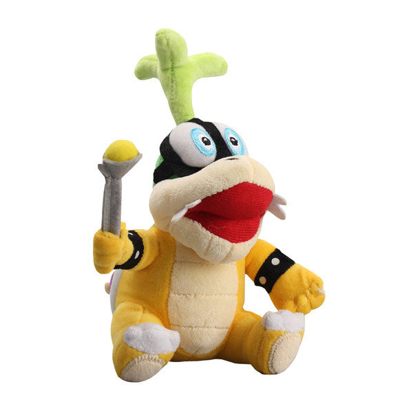 "New arrival 100% Cotton 9"" 22cm Super Mario Koopalings Iggy Cute Plush Stuffed Toys For Child Gifts"
