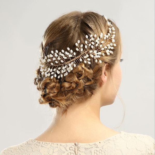 Pearl hair and combed hair accessories, Bridal Comb, bridal headwear Headband