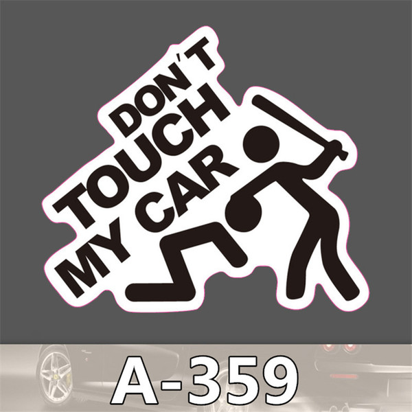 50Pcs-Pack Don't Touch My Car Stickers Waterproof for Skateboard Motorcycle Bicycle Luggage Laptop Stickers Bumper Wall Fridge Decals A-359