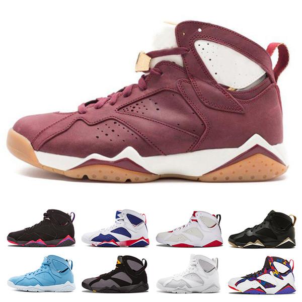 2018 7 7s men basketball shoes men raptor guyz Hares Olympic Bordeaux GG Cardinal Raptor French Blue Citrus Sports shoe Sneakers size 41-47