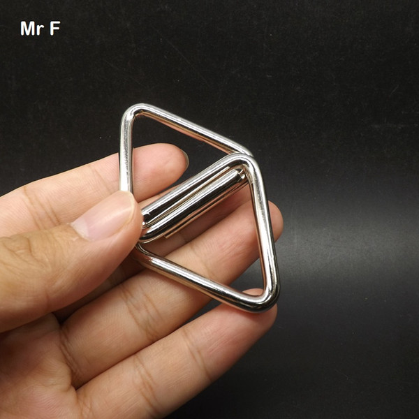 Triangle Shape 4.5 mm Thick Wire Materials Metal Montessori Wire IQ Puzzle Ring Model Toy