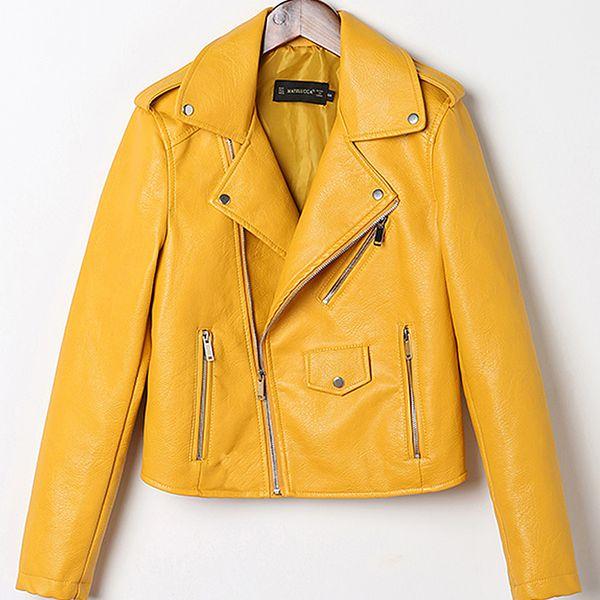 2018 neue gewaschene Lederjacke Mantel koreanische dünne Damen Farbe kleine Lederjacke Frauen Streetwear Kleidung Bomber Mantel