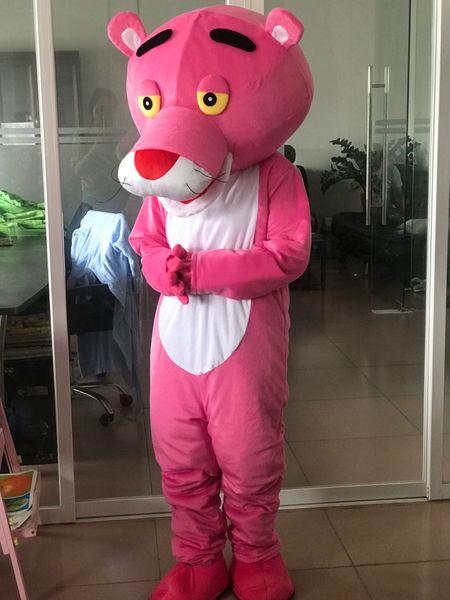 Vestido de lujo de la ropa de la historieta del traje de la mascota de la pantera rosada adulta