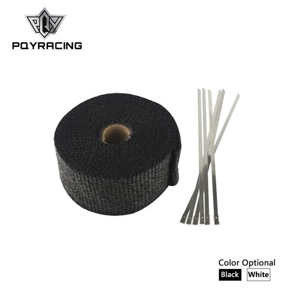 """PQY RACING - 2"""" x 5meter Thermal Wrap ,header warp , exhaust insulating warp ,exhaust pipe warp + 6 pcs 20cm Ties PQY1805"""