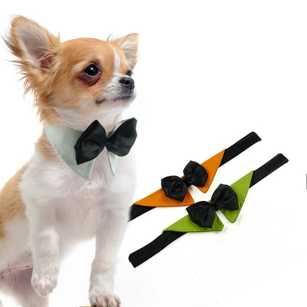 Portable Lovely Pet Triangle Towel With Cotton Bowknot Dog Clothes Collar Universal Adjustable Puppy Tie Hot Sale 5dr BB