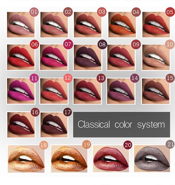 Pudaier21 colore opaco senza vetro opaco no sbiadisc lip gloss nebbia duratura rossetto liquido color trucco