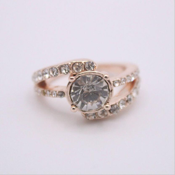 designer jewelry rings for women rose gold zircon band rings simple hot fashion free of shipping