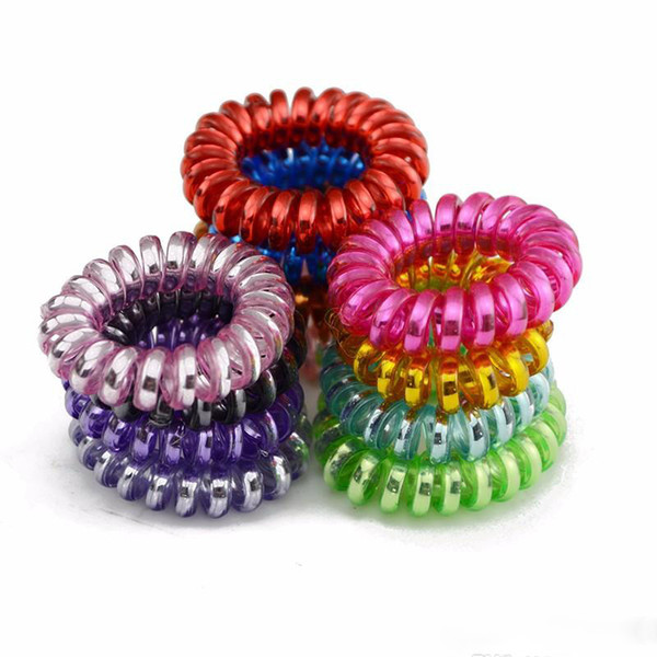 top popular Hot Sale Telephone Wire Elastic Hair Bands Ties Rings Rubber Ponytail Holder Bracelets Headbands Hair Accessories 2020