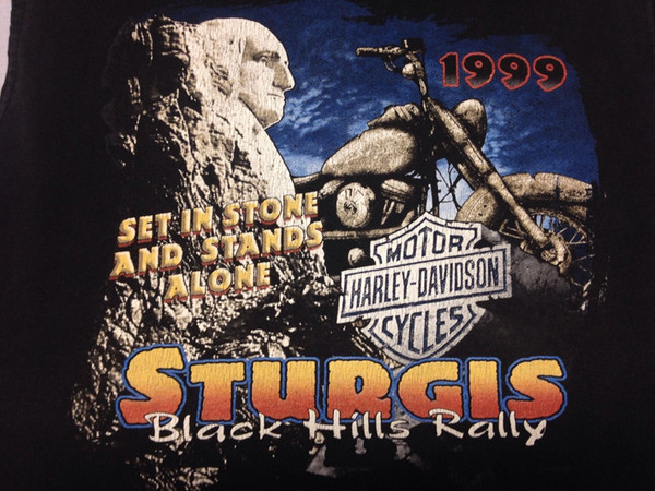 d5b68625 Vintage Harley Davidson 1999 Sturgis Black Hills Rally 2-sided Medium Tank  Top