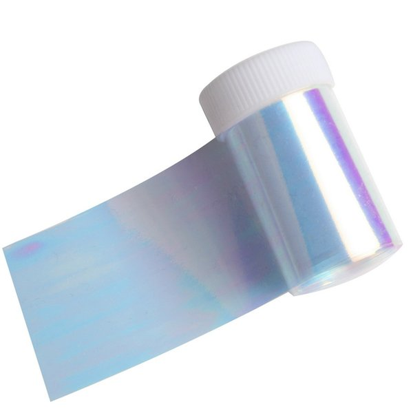 Bonbons Bule Couleur Nail Transfer Foil Laser Glass Paper Holographique Nail Wrap Polonais Care Pour Decal Matériel Fournir WY351