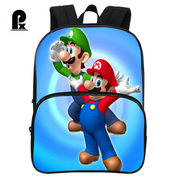 Pacento Super Mario Backpack Baby Backpack Children School Bags Kindergarten Shoulder Bags for Boys Mini Casual Back Pack Small