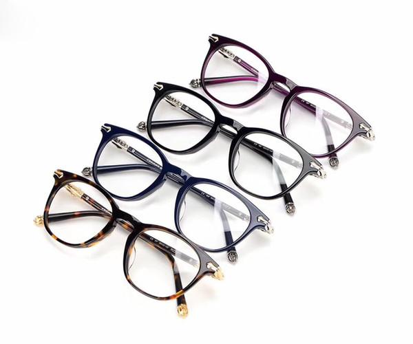 2018 Classic Women Round Eyeglasses Frame Luxury Brand Designer Fashion Men Nail Decoration Optical Glasses Reading Glasses