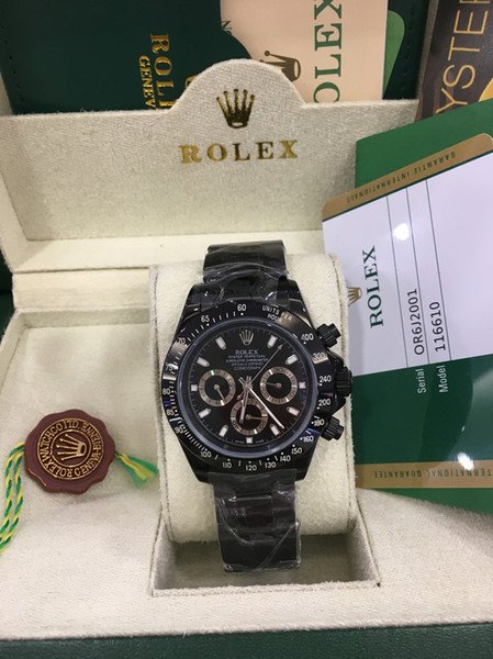 Original box luxury watche brand new a ia 2813 mechanical teel ca e 116500ln black no chronograph automatic men 039 watch watch