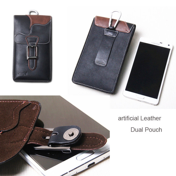 Custodia in pelle con gancio per cintura Clip per cellulare Custodia Dual per iPhone XR / XS Max, Cubot X18 Plus / Power / R11 / J3 Pro / Nova / P20