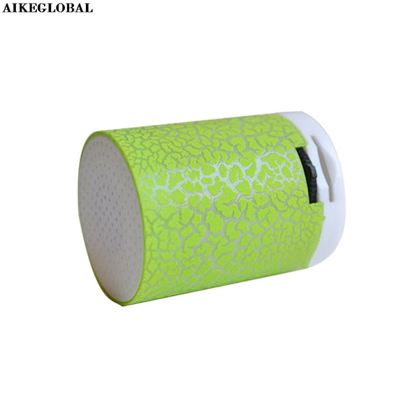AIKEGLOBAL LED Portable Mini Speakers Wireless Hands Free Speaker With TF MP3 DLNA AUX USB U disk TF Micro SD Card