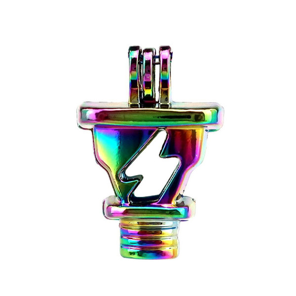 10pcs/lot Rainbow Color Wall Charger Power Beads Cage Locket Pendant Diffuser Aromatherapy Perfume Essential Oils Diffuser Floating Pom