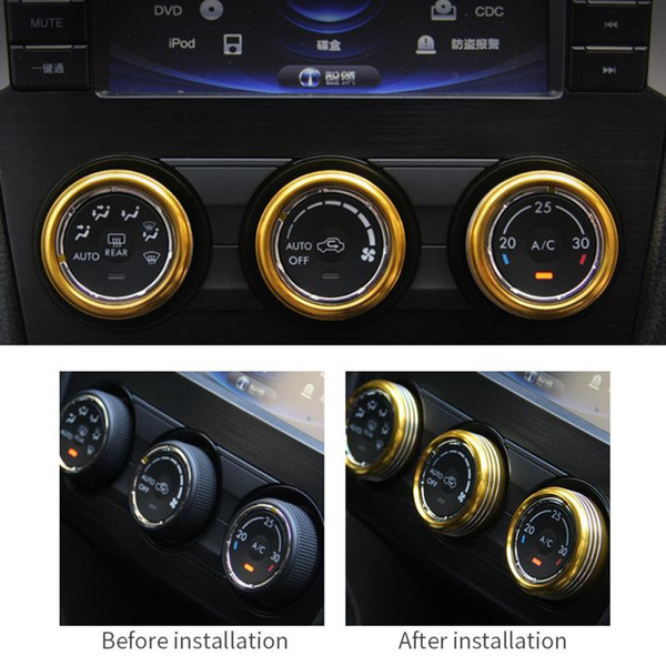 Parts For Cars >> Car Styling For Volkswagen Vw Tiguan L Subaru Forester Conditioning Knob Decoration Ring Aluminum Decorative Stickers Car Parts Used Auto Wheels Used