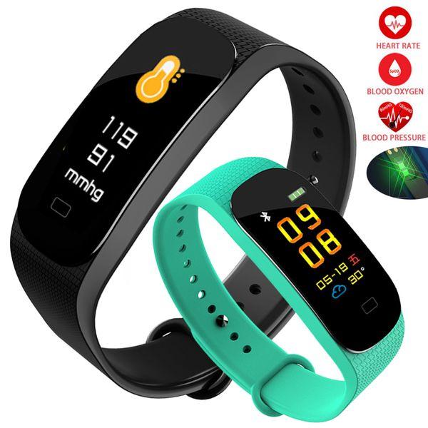 Fitness Smart Watch Women Men Clock Heart Rate Monitor Blood Pressure Running Swimming Touch Sport Intelligent Wristband Watches