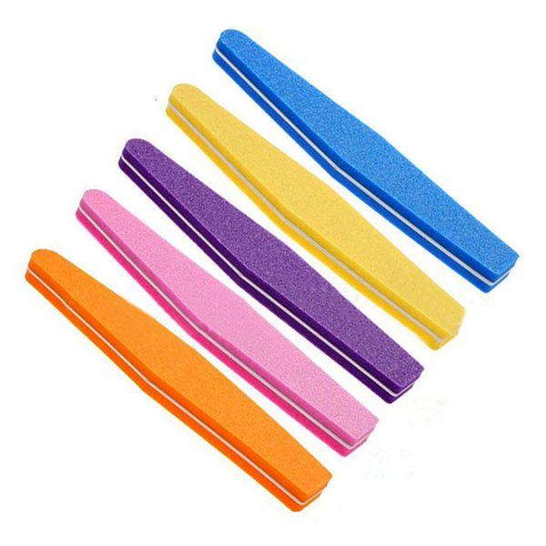 1Pc Nail Art Sponge Buffer Buffing Sanding Files Block Manicure Polishing Block for UV Gel Polish Nail Art Tips Random Color
