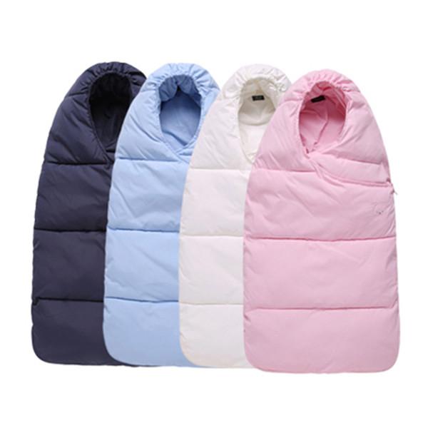 70 * 38 cm Uyku Tulumu Bebek Yenidoğan Için Zarf Kış Yumuşak Sıcak Wrap Uyku Çuval Bebek Arabası Uyku Pamuk Çanta Çocuklar Kış